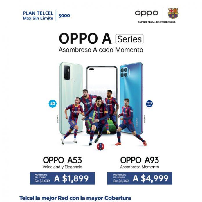 OPPO A series promoción Telcel Plan Telcel Max Sin Límite 5000
