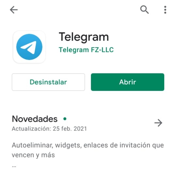 Telegram Google Play app