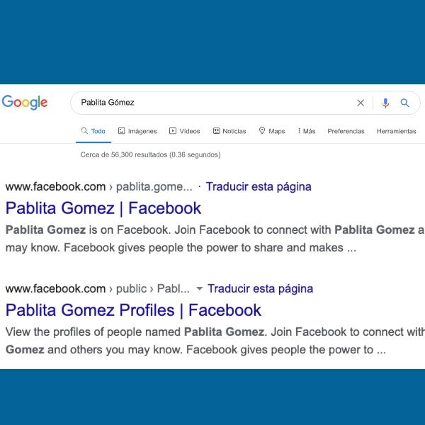 Cómo evitar que tu perfil de Facebook aparezca en Google