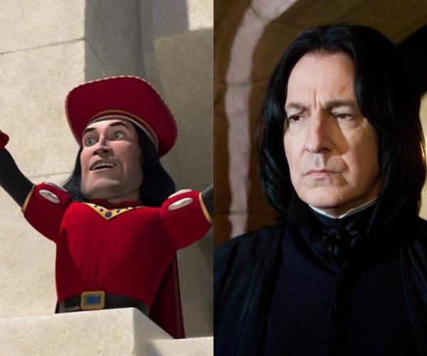 Alan Rickman le iba a dar voz a Lord Farquaad de Shrek