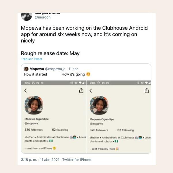cuándo es el lanzamiento de Clubhouse para Android