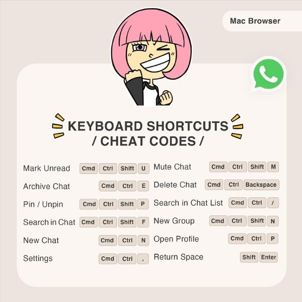 nuevos atajos de whatsapp