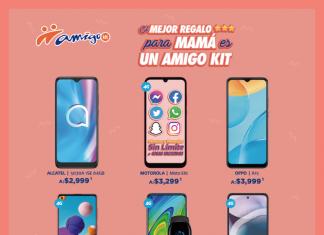 El mejor regalo para mamá es un Amigo Kit. Equipos participantes, promoción mayo 2021. Telcel