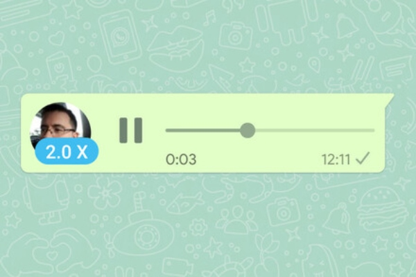 1X 2X qué significa en WhatsApp audios