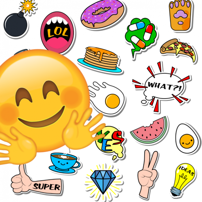 Emoji feliz, pack de stickers WhatsApp