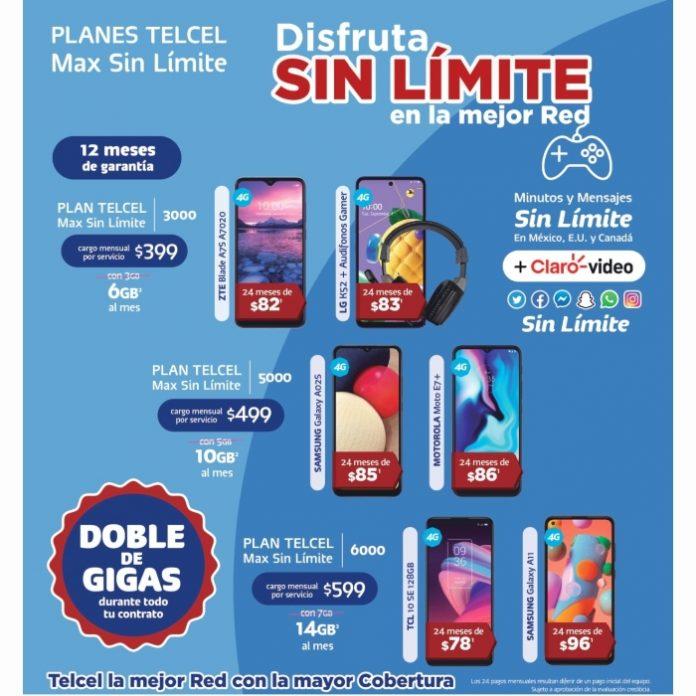 ¡Estrena un nuevo smartphone hoy mismo con un Plan Telcel Max Sin Límite!