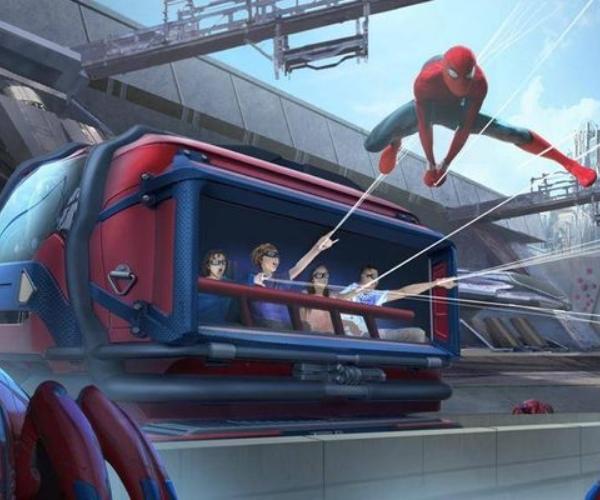 Spider-Man atracción parque temático