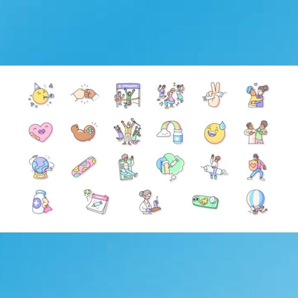 Nuevos stickers de la OMS y WhatsApp