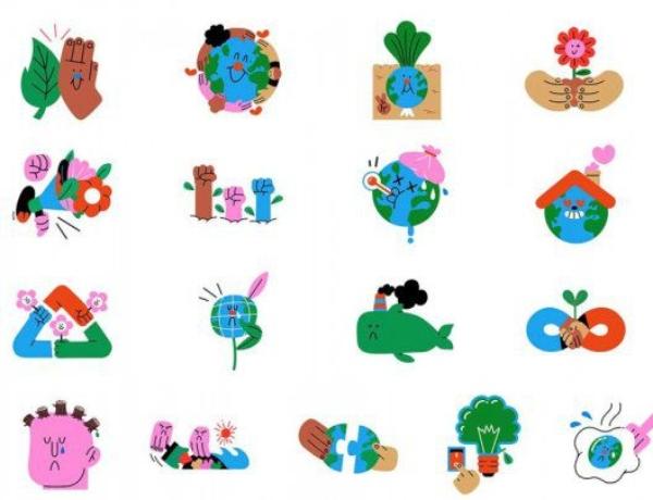 Stickers día de la tierra