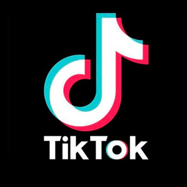 TikTok logo oficial fondo negro