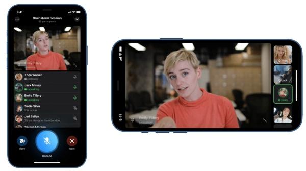 Videollamadas grupales, nueva función Telegram, dispositivos móviles