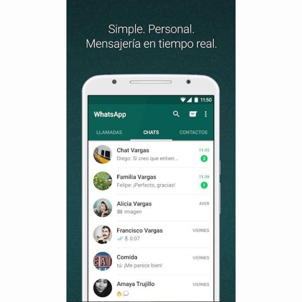 WhatsApp app descargar Google Play