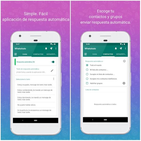 WhatsAuto app Google Play respuestas automáticas WhatsApp