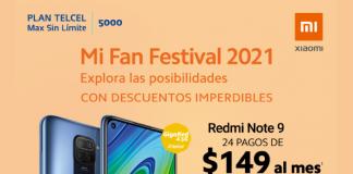 Redmi Note 9 Estrena con Xiaomi y aprovecha el Mi Fan Festival 2021