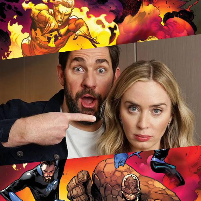Emily Blunt y John Krasinski, protagonistas de Los 4 Fantásticos, Marvel