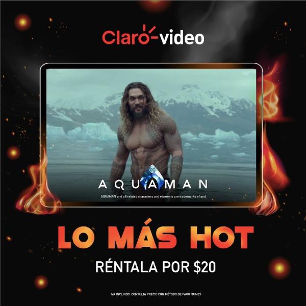 Aquaman disponible para rentar en el Hot Sale
