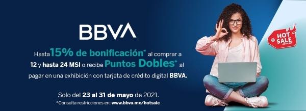 BBVA Bancomer promoción Telcel hot sale