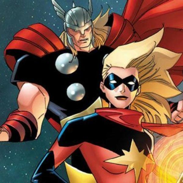 Capitana Marvel y Thor mismos trajes