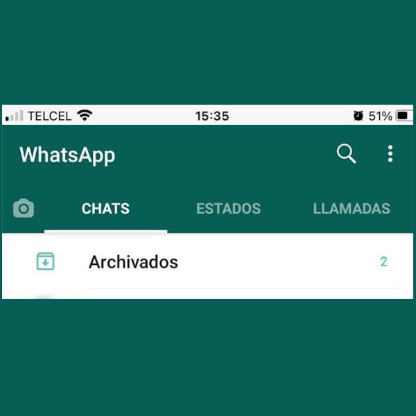 nuevos chats archivados de WhatsApp