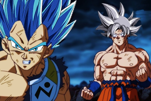 Dragon Ball Super Gokú y Vegeta dioses