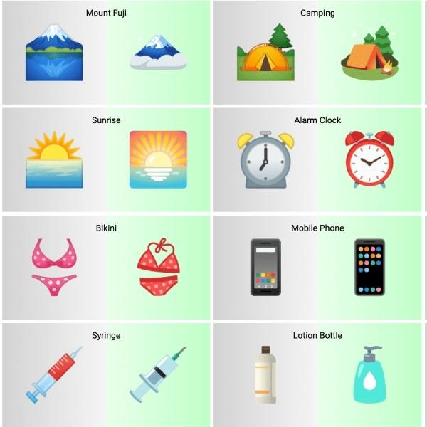 rediseño de emojis de android 12 ha modificado la jeringa y el monte fuji - Blog Hola Telcel