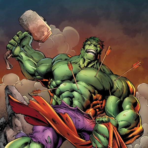 Hulk malo, martillo, cómics Marvel