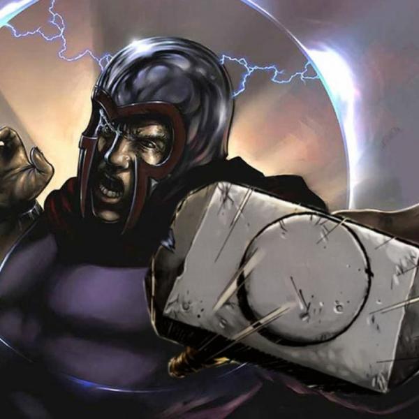 Magneto si puede levantar el martillo de Thor superpoder