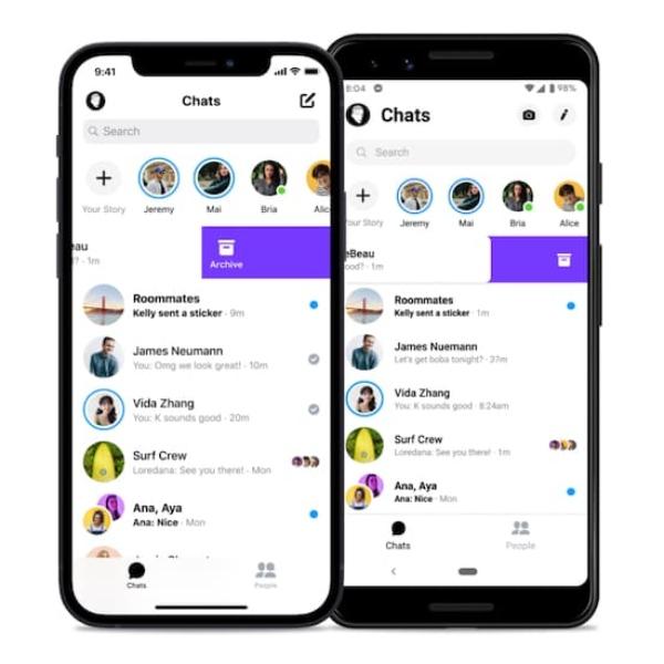 Nuevos mensajes archivados Facebook Messenger