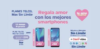 nuevo smartphone con tu Plan Telcel Max Sin Límite