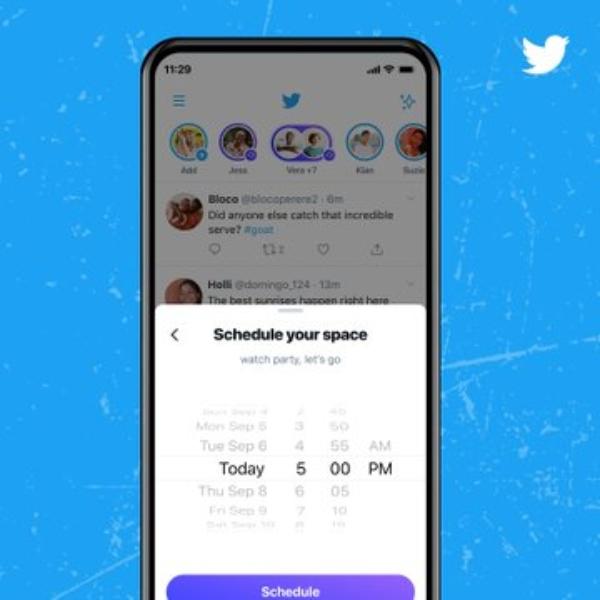 Twitter Spaces conferencias, agendar hora y día