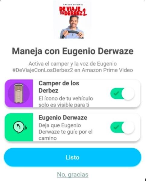 Maneja con Eugenio Derbez en Waze