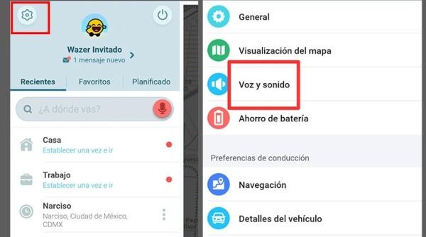 Waze cómo cambiar la voz y sonido aplicación