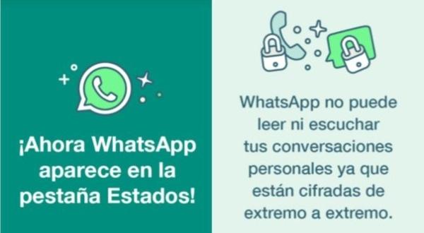 WhatsApp estados, información de los usuarios, datos personales