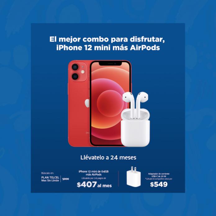 terminos y condiciones de iPhone 12 mini + AirPods en Telcel -Blog hola telcel