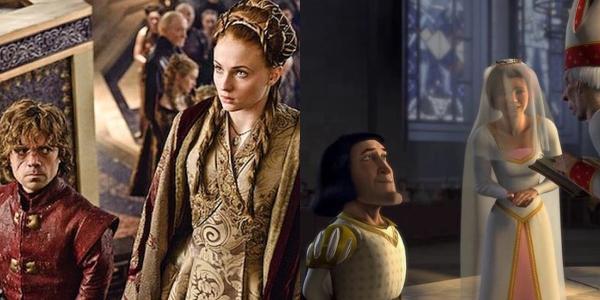 Boda de Sansa Stark y Tyron Lannnister es parecida a la de Fiona y Lord Farquaad.- Blog Hola Telcel