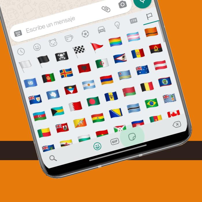nuevo emoji de la bandera naranja en whatsapp -blog hola telcel