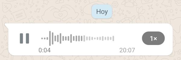 Nuevo diseño de los audios, el cual ya está disponible en el modo beta de WhatsApp.- Blog Hola Telcel