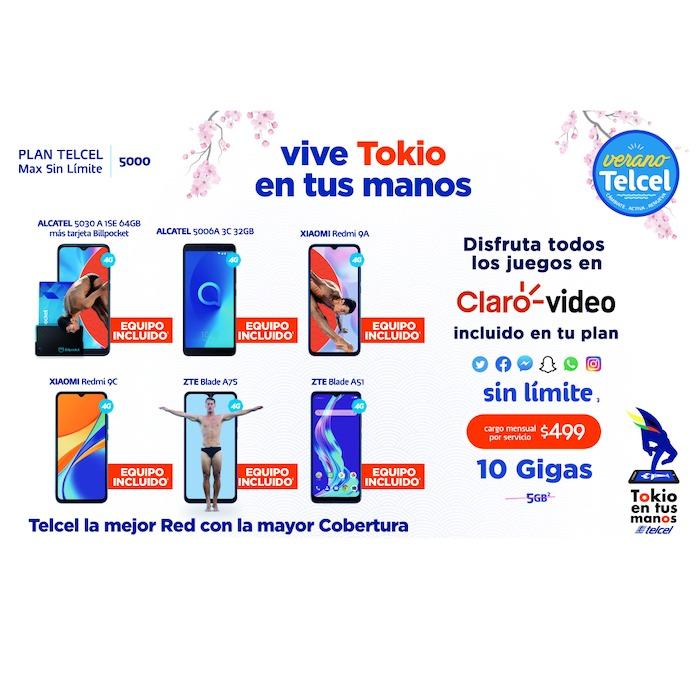 Activa o renueva un Plan Telcel y disfruta de todos los beneficios y un nuevo equipo para vivir Tokio en tus manos. Vigencia al 28 de julio de 2021.- Blog Hola Telcel