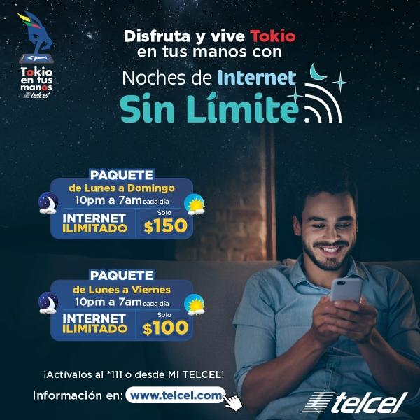 Noches de Internet sin Límite de Telcel.- Blog Hola Telcel