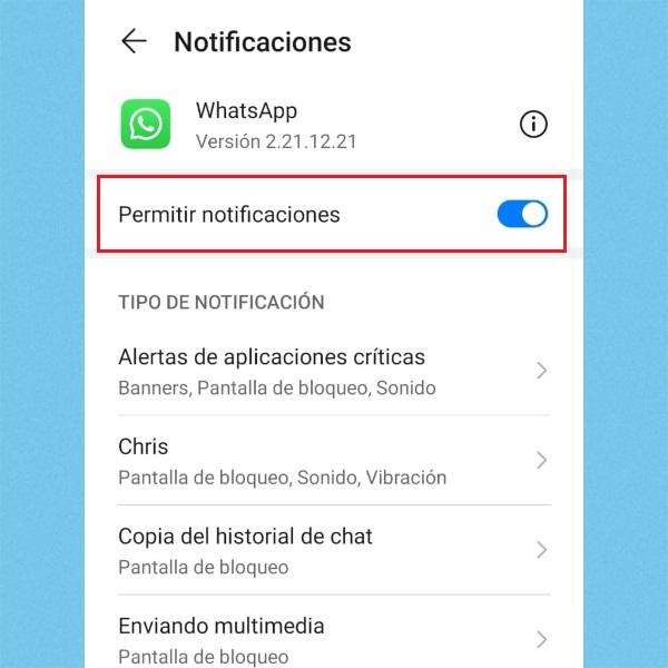 Desactivar notificaciones de WhatsApp para desactivar la cuenta.- Blog Hola Telcel