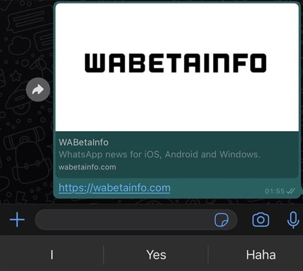 Previsualización más grande de los enlaces compartidos en WhatsApp, entre las nuevas funciones de la app.- Blog Hola Telcel