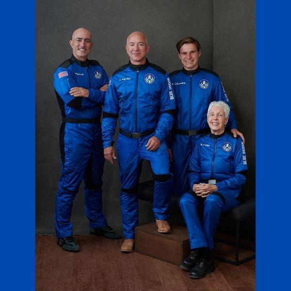 quiénes acompañaron a Jeff Bezos en su viaje al espacio - Blog Hola Telcel