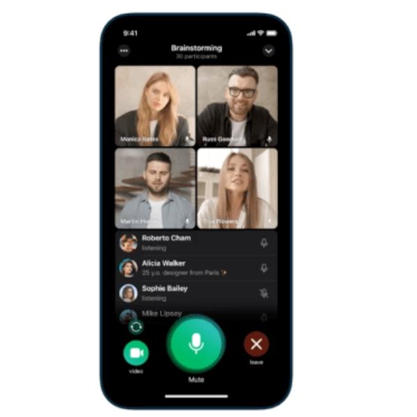 Así funcionan las nuevas videollamadas grupales en Telegram.- Blog Hola Telcel