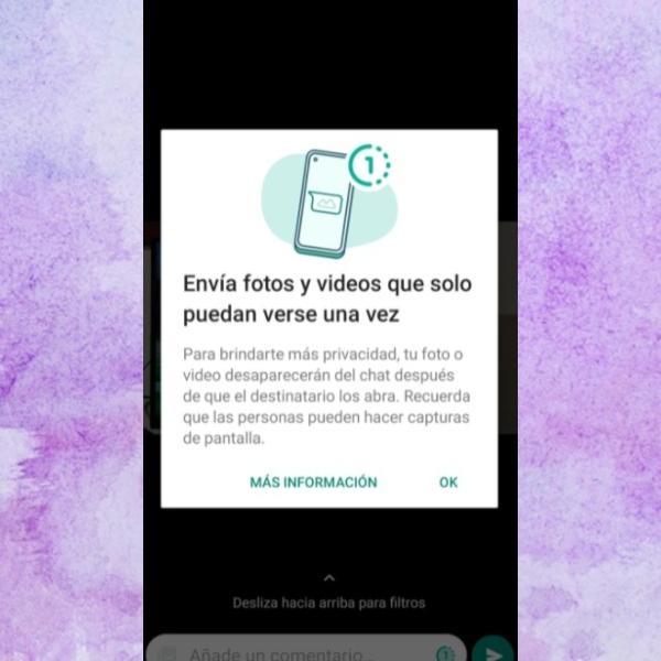 Fotos y videos que desaparecen después de verlos una vez es la próxima función nueva de WhatsApp.- Blog Hola Telcel