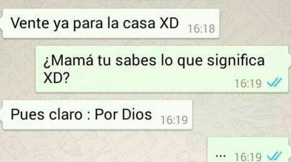 """Personas que creen que el XD significa """"Por Dios"""".- Blog Hola Telcel"""