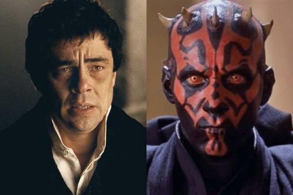 Benicio del Toro se arrepintió de ser Darth Maul en La amenaza fantasma por los pocos diálogos del personaje.- Blog Hola Telcel