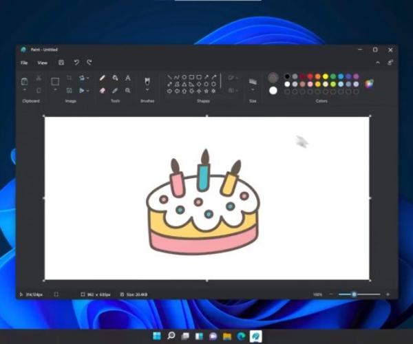 Así lucirá el nuevo Paint de Windows 11 de Microsoft, con un diseño renovado y más herramientas 3D.- Blog Hola Telcel