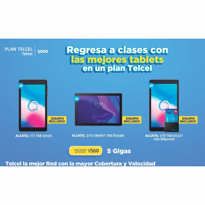 Haz de este regreso a clases el más especial de todos estrenando una increíble tablet en un Plan Telcel. Vigencia al 01 de septiembre de 2021.- Blog Hola Telcel
