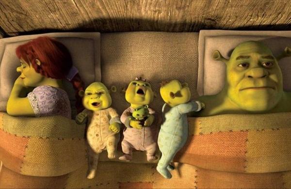 Shrek, Fiona y los trillizos en Shrek 5.- Blog Hola Telcel