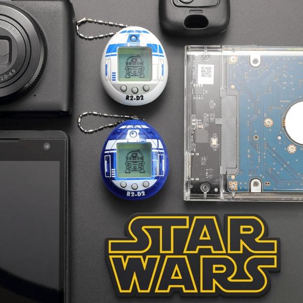 Tamagotchi de R2-D2 de Star Wars en color blanco y azul.- Blog Hola Telcel